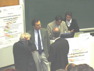 Discussion at the lectern